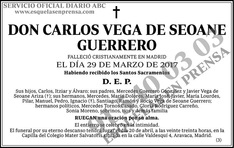 Carlos Vega de Seoane Guerrero